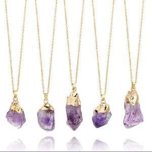 Jewelry - Natural Raw Amethyst stone pendant